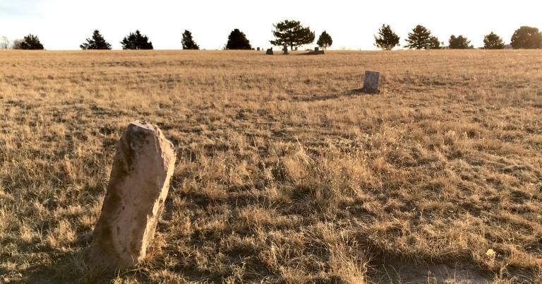 Weathered Sandstone Grave Marker
